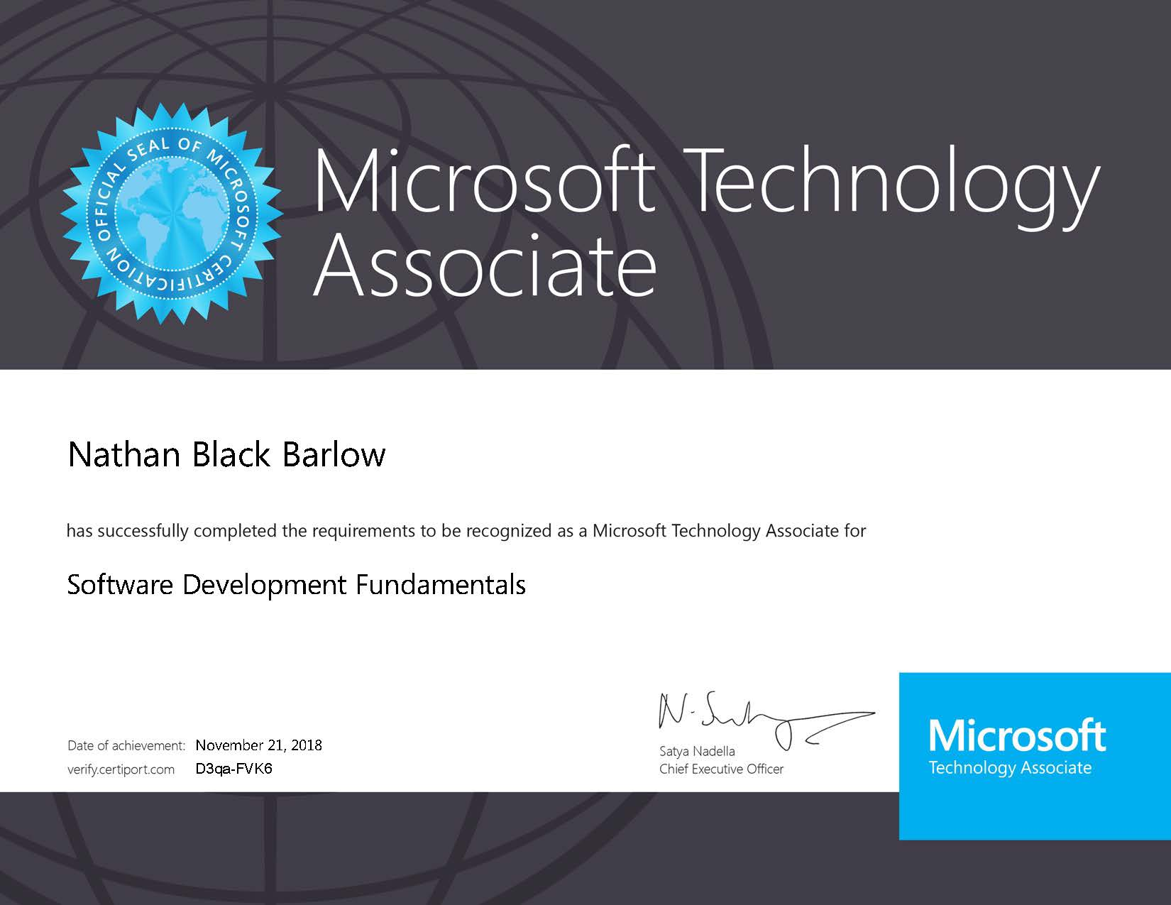I am now Microsoft® certified!